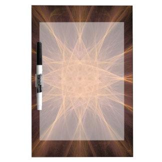 Orange and Violet Star Fractal Art Gifts Dry-Erase Board