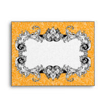 Orange and White A2 Gothic Baroque Envelopes