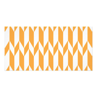 Orange and White Abstract Graphic Pattern. Picture Card
