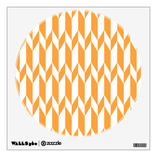 Orange and White Abstract Graphic Pattern Room Graphic