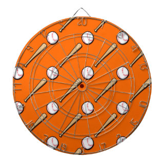 Orange and White Baseball Pattern Dart Boards