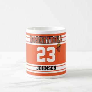 Orange and White Basketball Jersey Coffee Mug