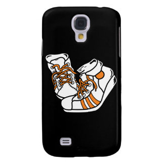 orange and white basketball sneakers graphic galaxy s4 cover