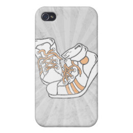 orange and white basketball sneakers graphic iPhone 4/4S cover