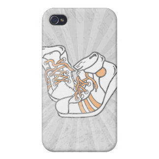 orange and white basketball sneakers graphic iPhone 4 covers
