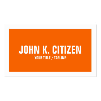 Orange and White Border Business Card