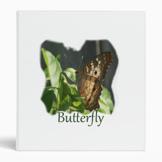 Orange and White Butterfly with text Photograph Vinyl Binders