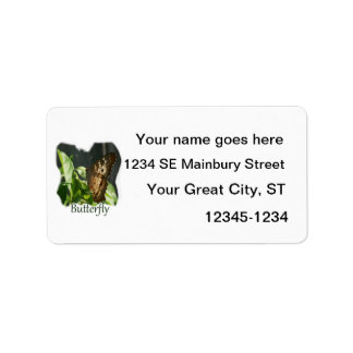Orange and White Butterfly with text Photograph Address Label