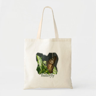 Orange and White Butterfly with text Photograph Tote Bag