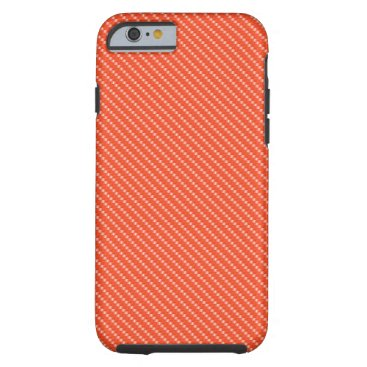 Beach Themed Orange and White Carbon Fiber Pattern Base Tough iPhone 6 Case