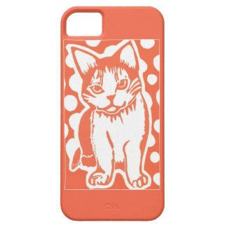 Orange and White Cat iPhone 5/5s Case