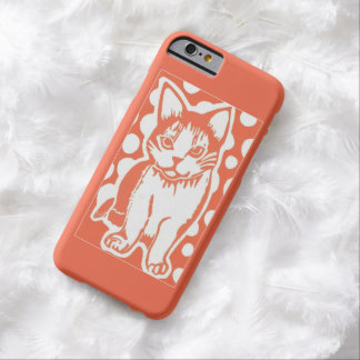 Orange and White Cat iPhone 6 Case