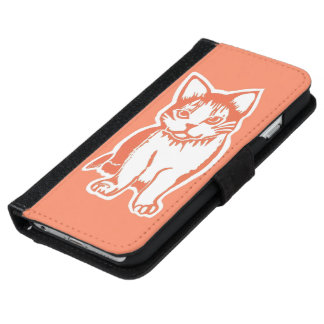 Orange and White Cat Orange Phone Wallet Case