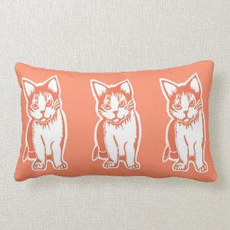 Orange and White Cats Orange Lumbar Pillow