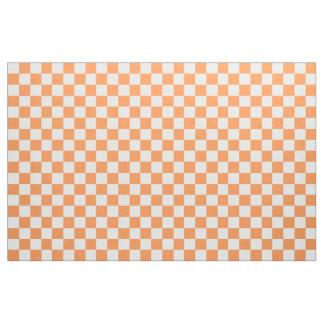 Orange And White Checkered Fabric
