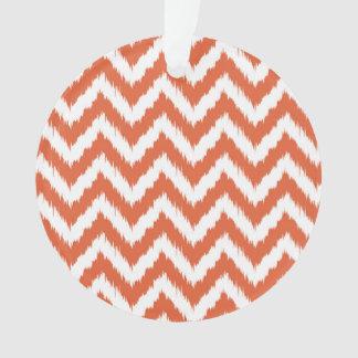 Orange and White Chevron Ikat Pattern