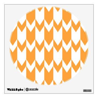 Orange and White Chevron Pattern Room Graphics