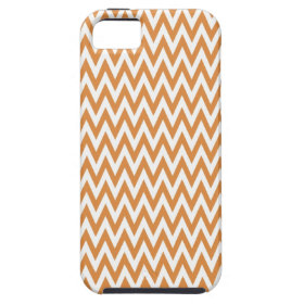 Orange and White Chevron Zig Zag Stripes Pattern iPhone 5 Covers