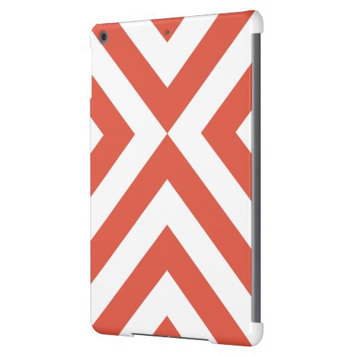 Orange and White Chevrons Cover For iPad Air