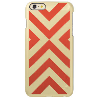 Orange and White Chevrons Incipio Feather Shine iPhone 6 Plus Case