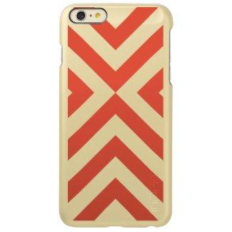 Orange and White Chevrons Incipio Feather® Shine iPhone 6 Plus Case