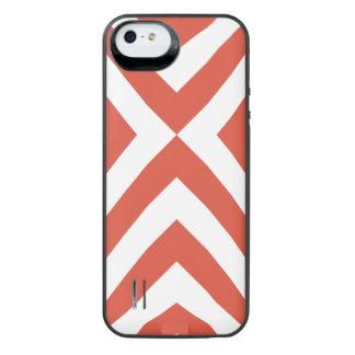 Orange and White Chevrons Uncommon Power Gallery™ iPhone 5 Battery Case