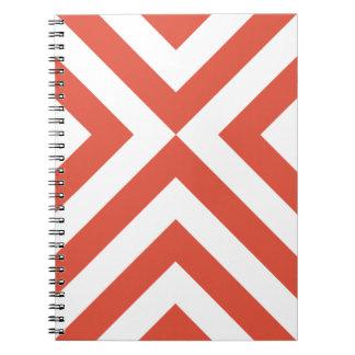 Orange and White Chevrons Note Books