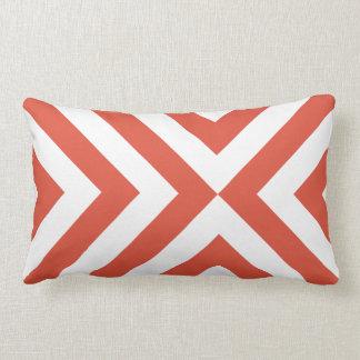Orange and White Chevrons Pillow