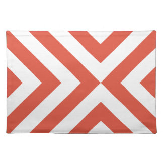 Orange and White Chevrons Place Mats