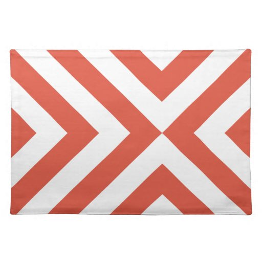 Orange and White Chevrons Placemat