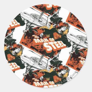 Orange and White Collage Sticker