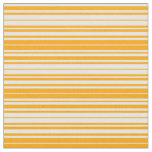 [ Thumbnail: Orange and White Colored Striped/Lined Pattern Fabric ]