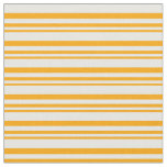 [ Thumbnail: Orange and White Colored Stripes Pattern Fabric ]