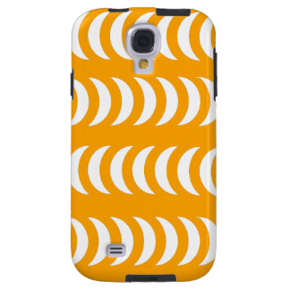 Orange And White Crescent Moons Galaxy S4 Case