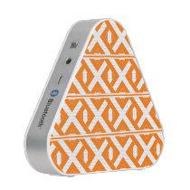 Orange and White Criss Cross Bluetooth Speaker