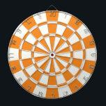 """Orange And White Dart Board<br><div class=""""desc"""">Orange And White Dart Board</div>"""