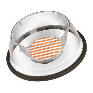 Halloween Themed Orange and White Diagonal Stripes Pattern Bowl