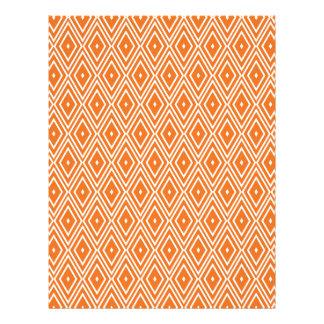 Orange and White Diamonds Design Letterhead
