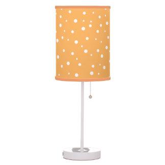 Orange and White Dotty Pattern. Lamps