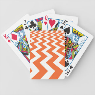 Orange and White Fast Lanes Bicycle Playing Cards