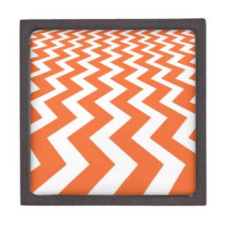 Orange and White Fast Lanes Jewelry Box