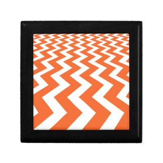 Orange and White Fast Lanes Keepsake Box