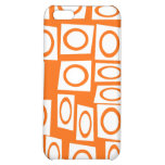 Orange and White Fun Circle Square Pattern Case For iPhone 5C