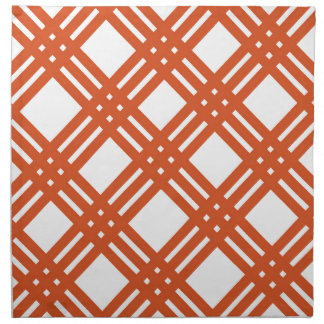 Orange and White Gingham Napkin