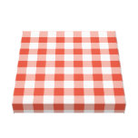 Orange and White Gingham Pattern Canvas Prints