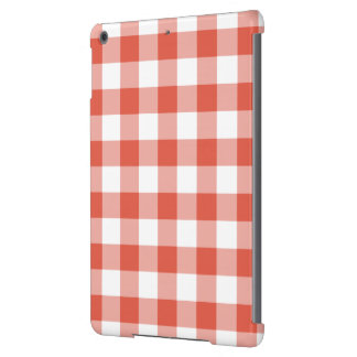 Orange and White Gingham Pattern Cover For iPad Air