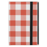 Orange and White Gingham Pattern Cases For iPad Mini