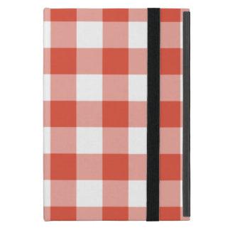 Orange and White Gingham Pattern iPad Mini Cases