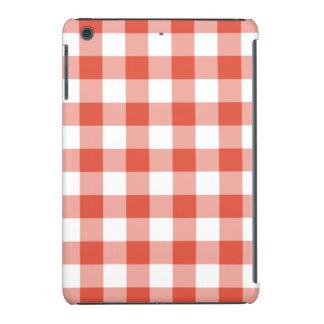 Orange and White Gingham Pattern iPad Mini Cover