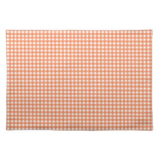 Orange and White Gingham Placemat
